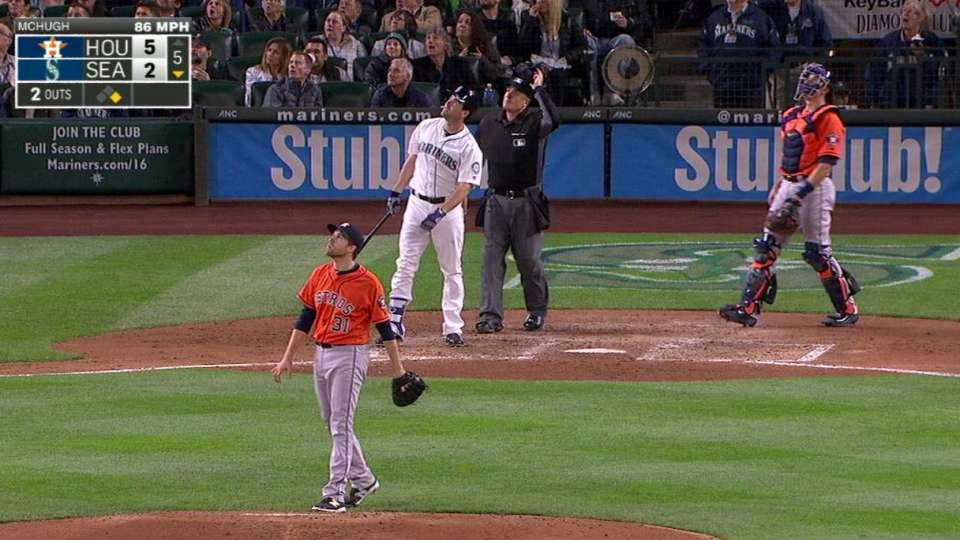 Smith just misses homer