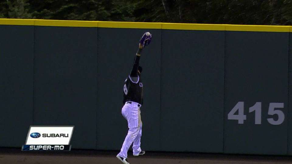 Parra's leaping catch