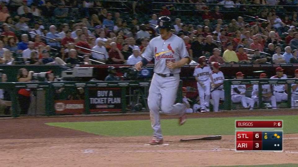 Cardinals' five-run inning
