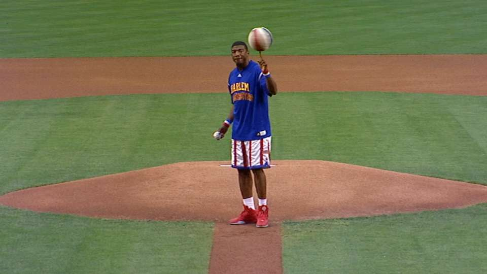 Globetrotter's first pitch