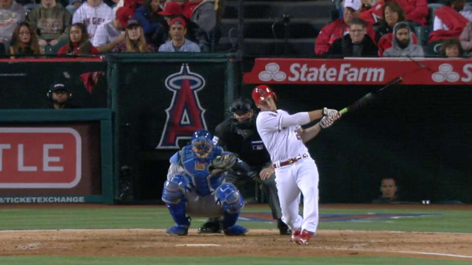 Angels ride three homers to win