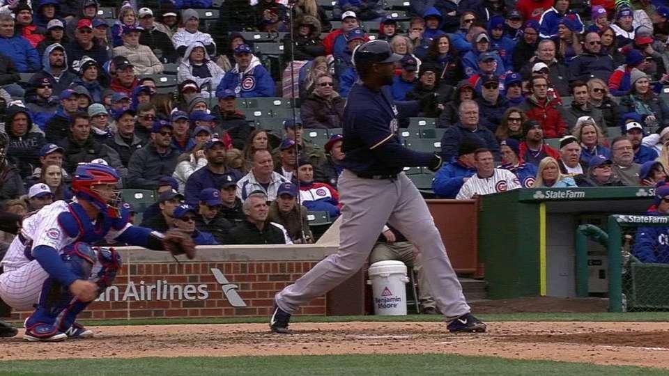Carter swings and loses bat