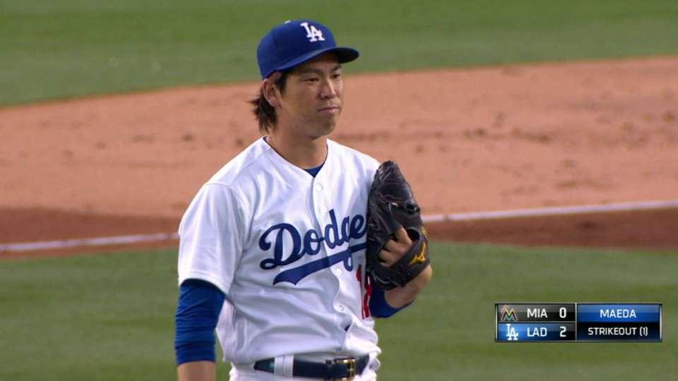 Maeda strikes out Ichiro