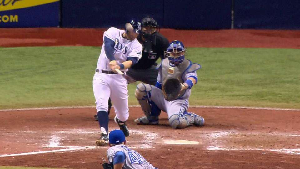 Miller's homer to right