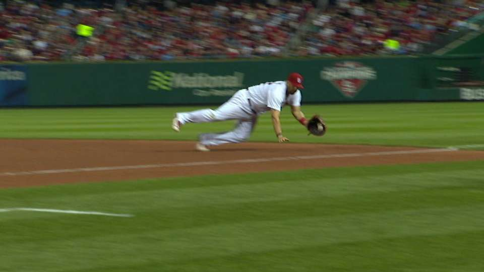 Adams robs Harper of hit