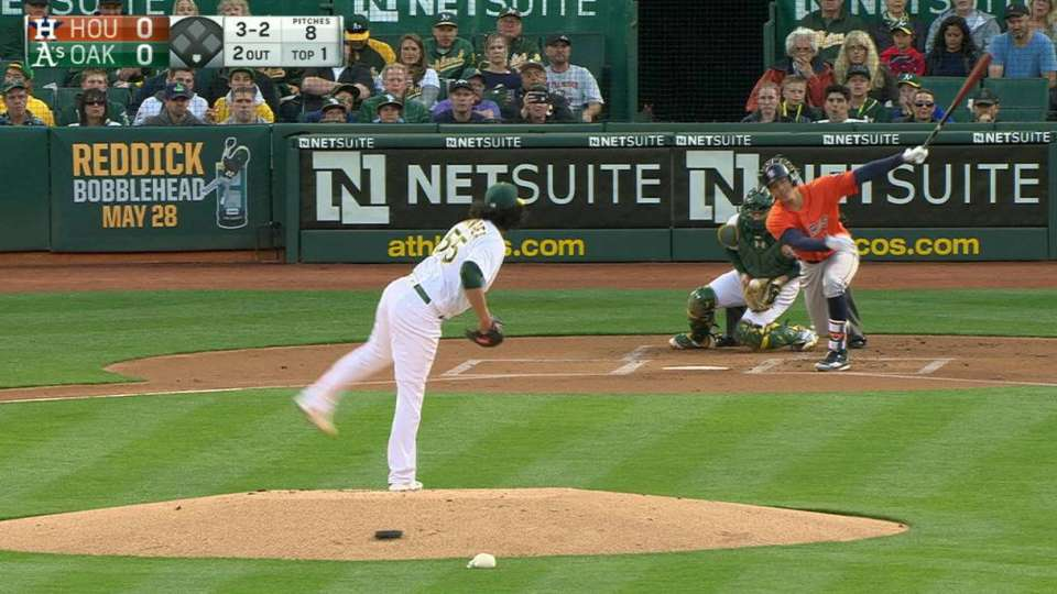 Manaea's first MLB strikeout