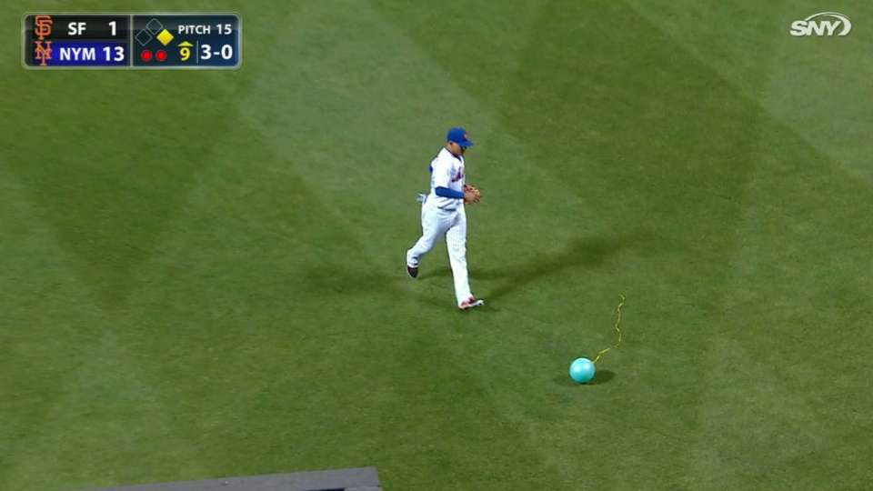 Balloon enters the field of play