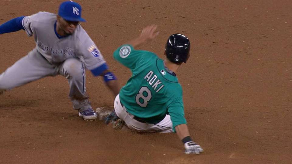 Perez throws out Aoki