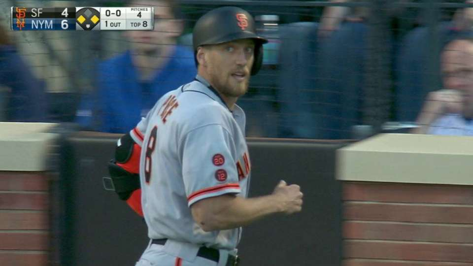Pence's sac fly to center