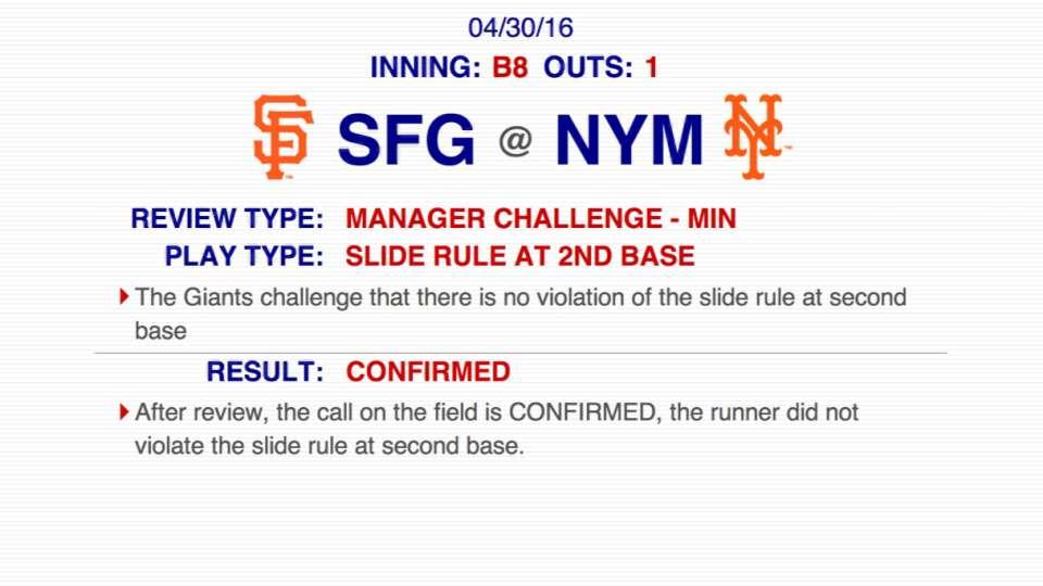 Giants challenge Walker's slide