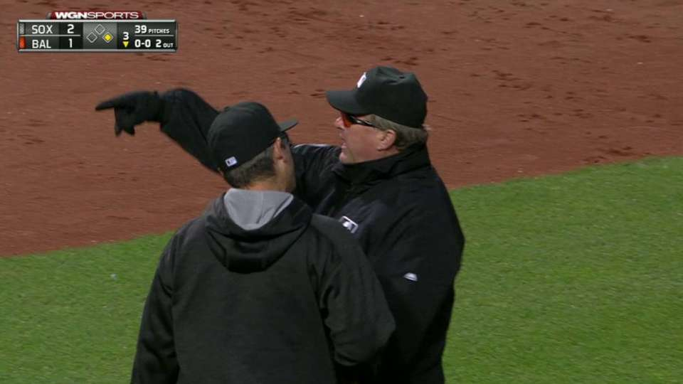 Ventura gets ejected in the 3rd