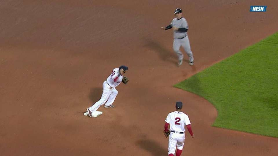 Porcello induces key double play