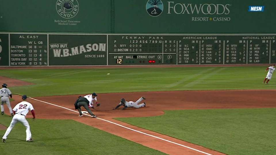 Porcello dives to save a run