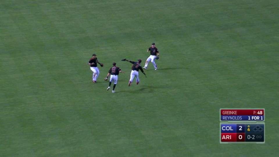 Segura's running catch
