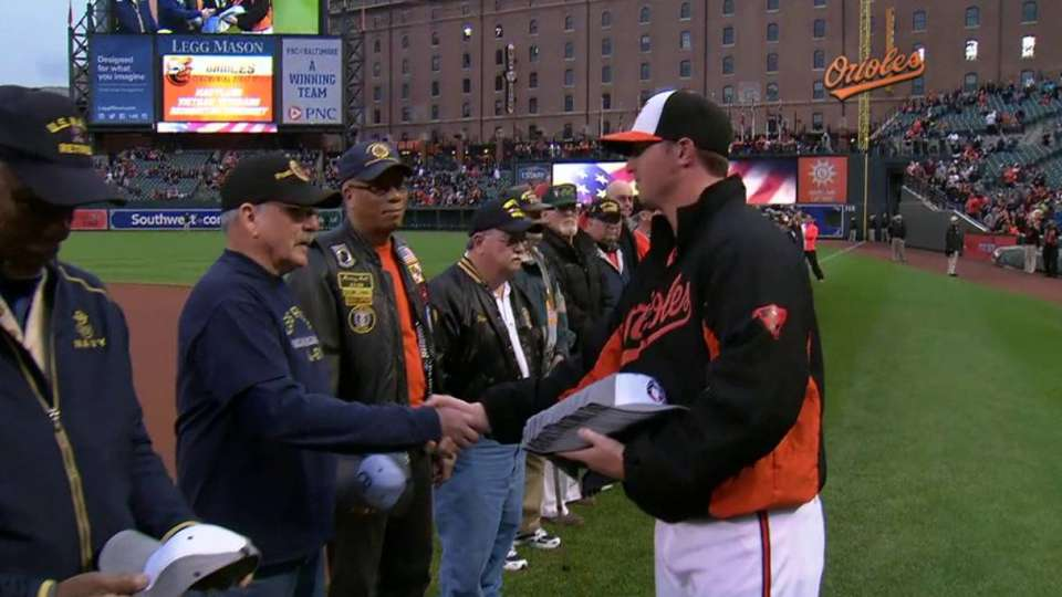 Orioles honor Vietnam veterans