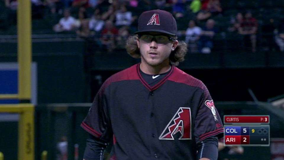 Curtis gets double play in debut