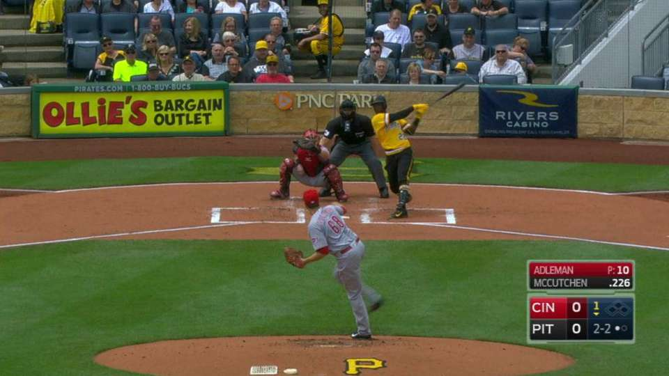 Adleman's first career strikeout