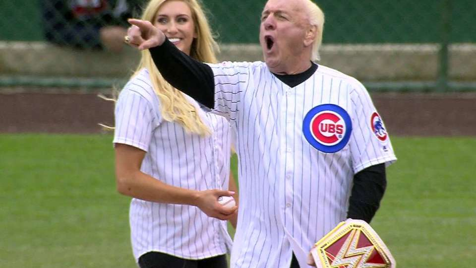 Ric Flair on the mound