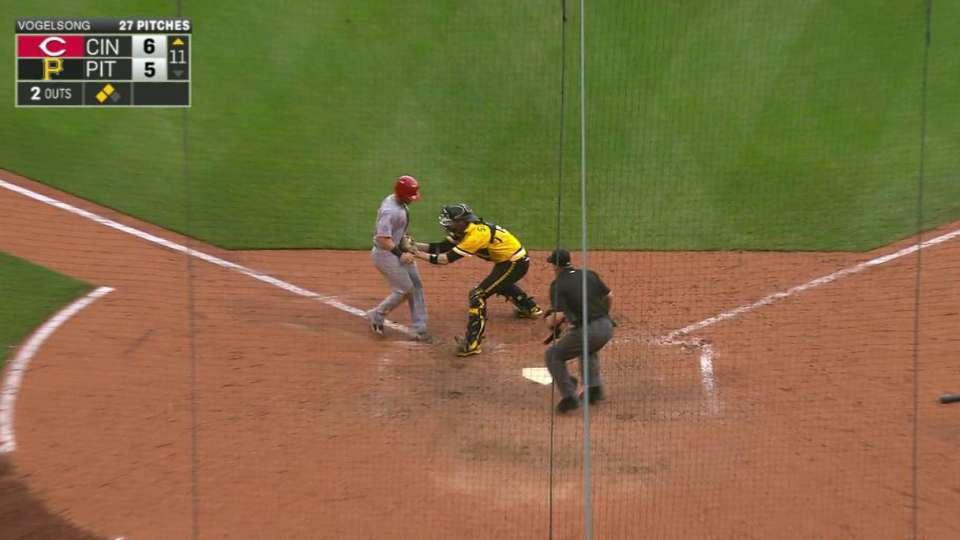 Pirates turn inning-ending DP