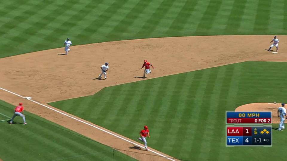 Trout's RBI grounder