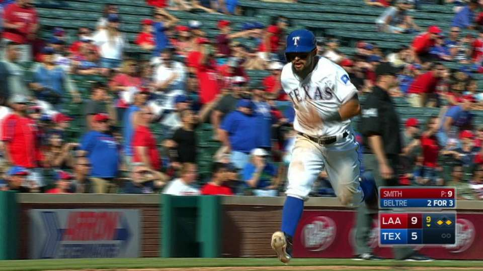 Beltre's sac fly to center