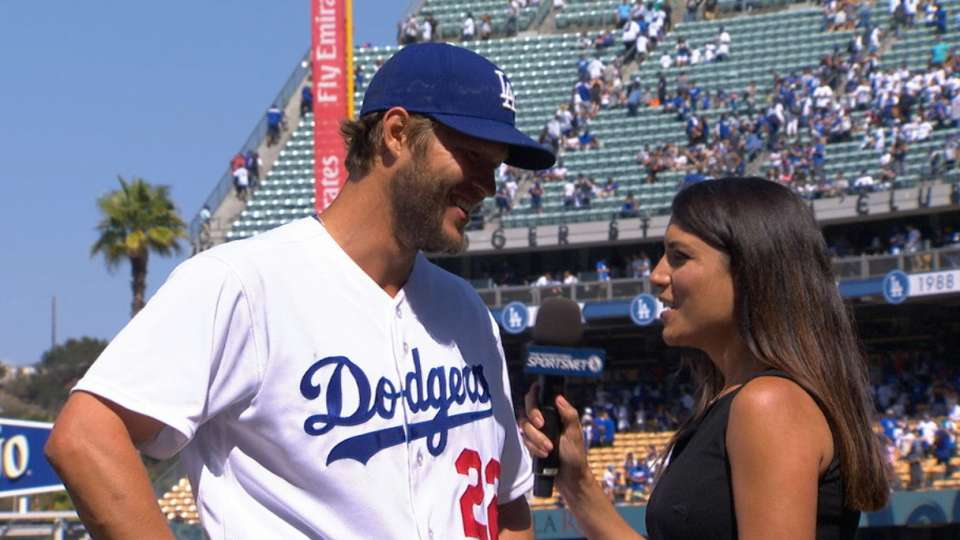 Kershaw on shutout vs. Padres