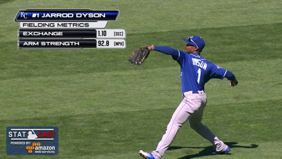 Statcast: Dyson throws out Cano