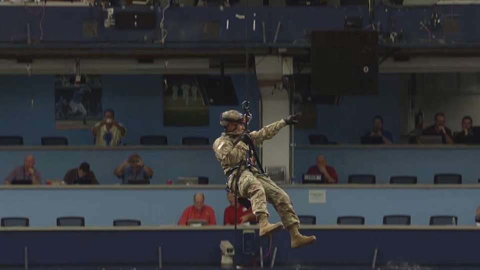 USSOCOM Rappel Team First Pitch