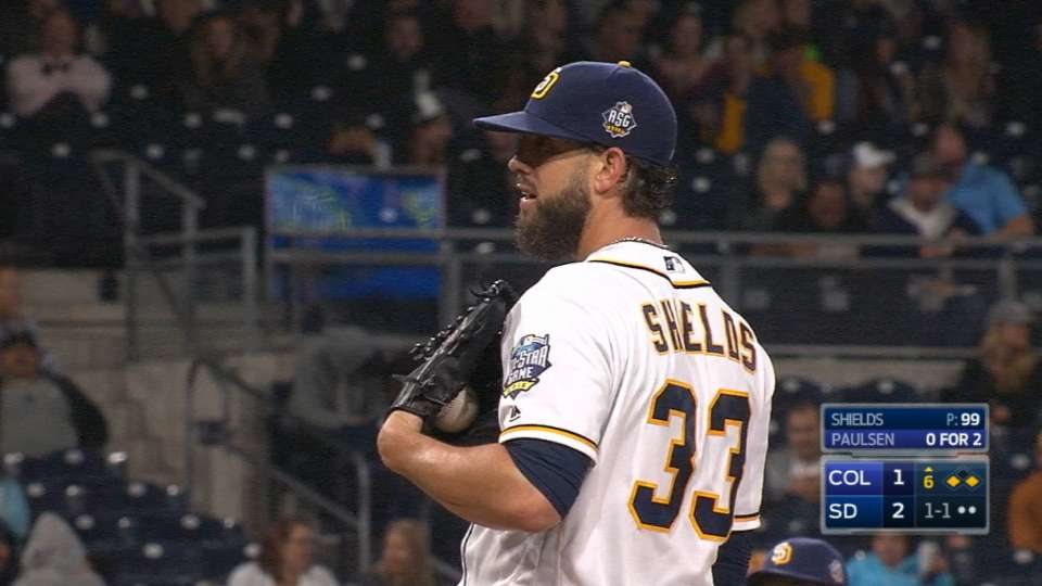 Shields notches his first win