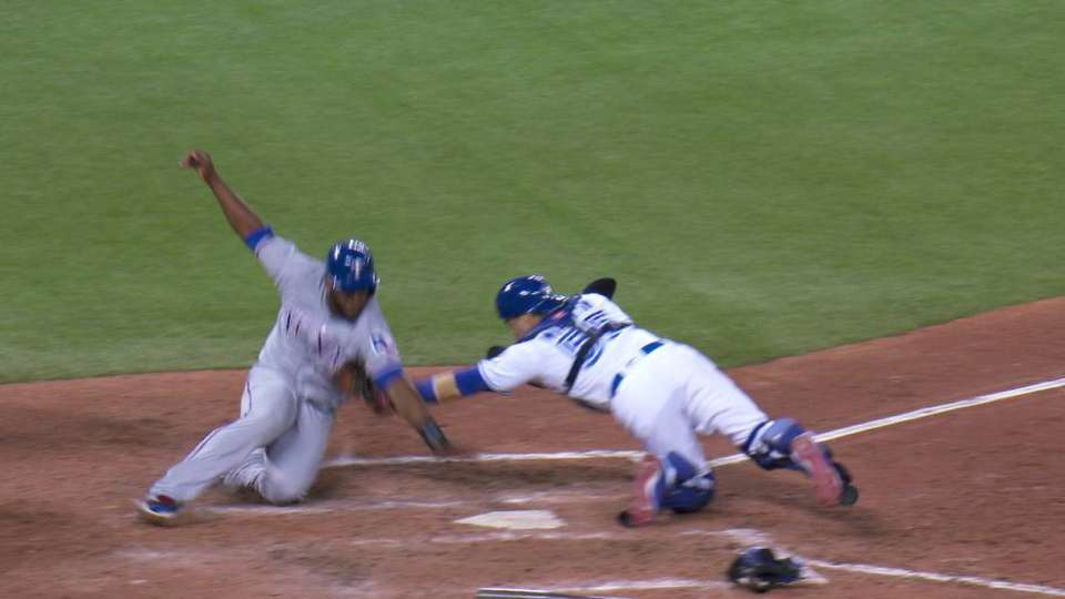 Barney throws runner out at home