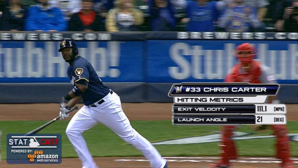 Statcast: Carter's two homers
