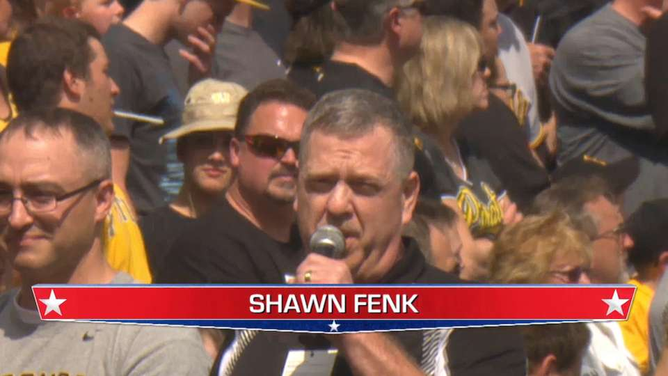 Shawn Fenk sings at PNC Park
