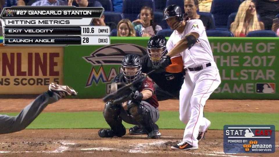 Statcast: Stanton's long homer