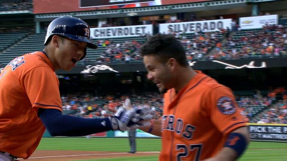 Correa se luce con bate, guante