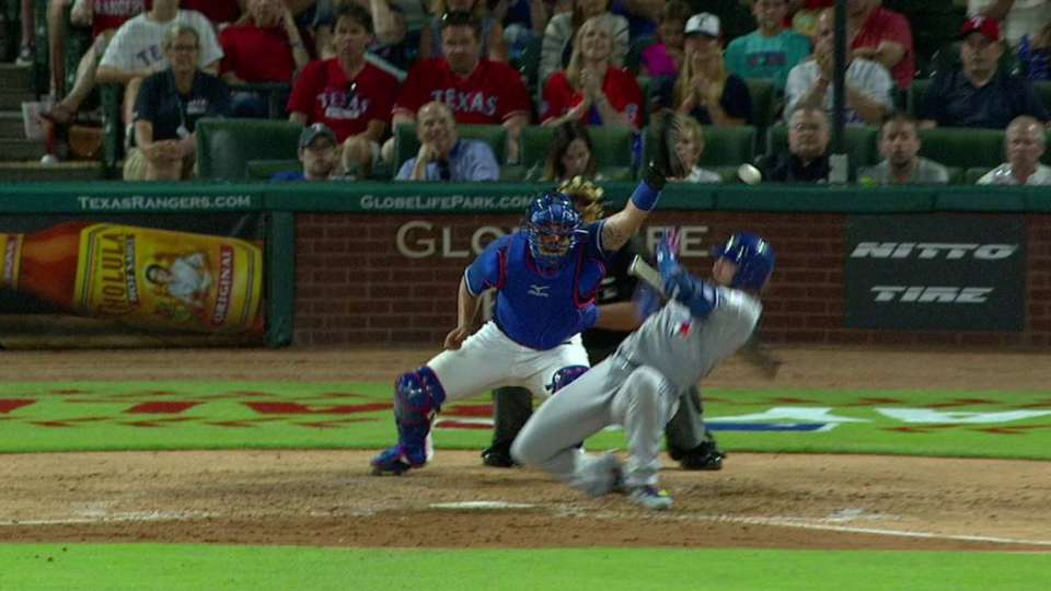 Barney races home on wild pitch