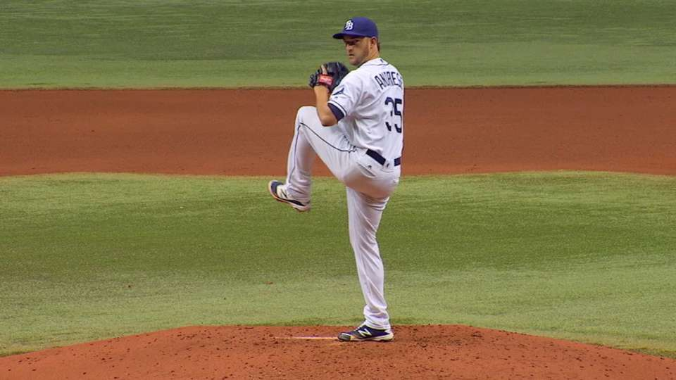 Andriese's two-hit shutout