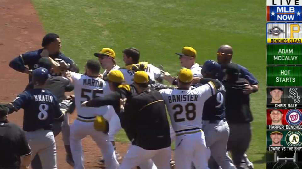 MLB Now: Benches clearing at PNC