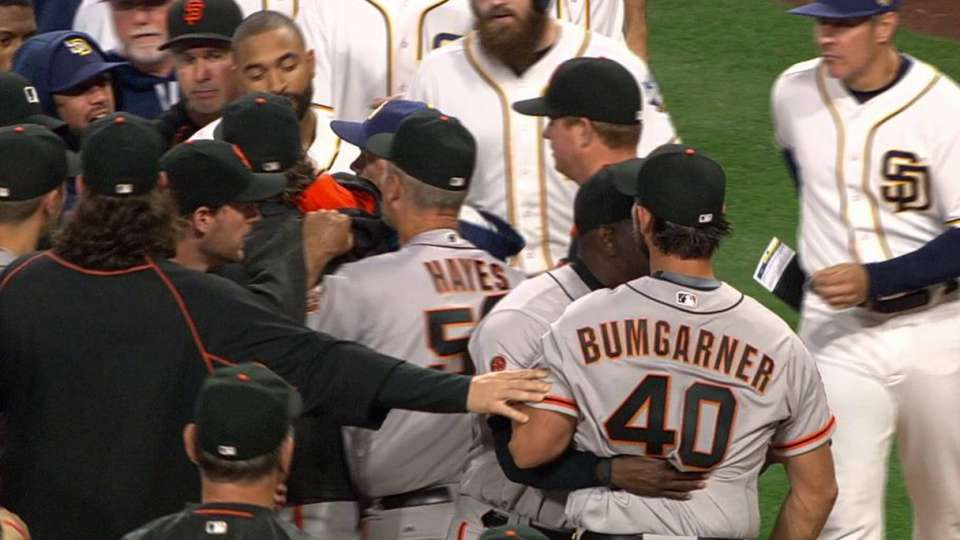 Benches clear after altercation