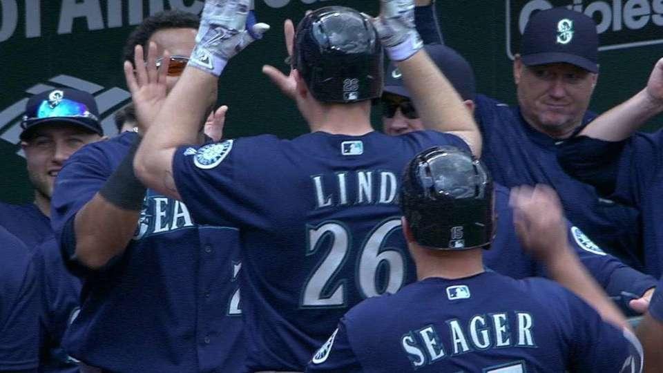 Lind's three-run home run