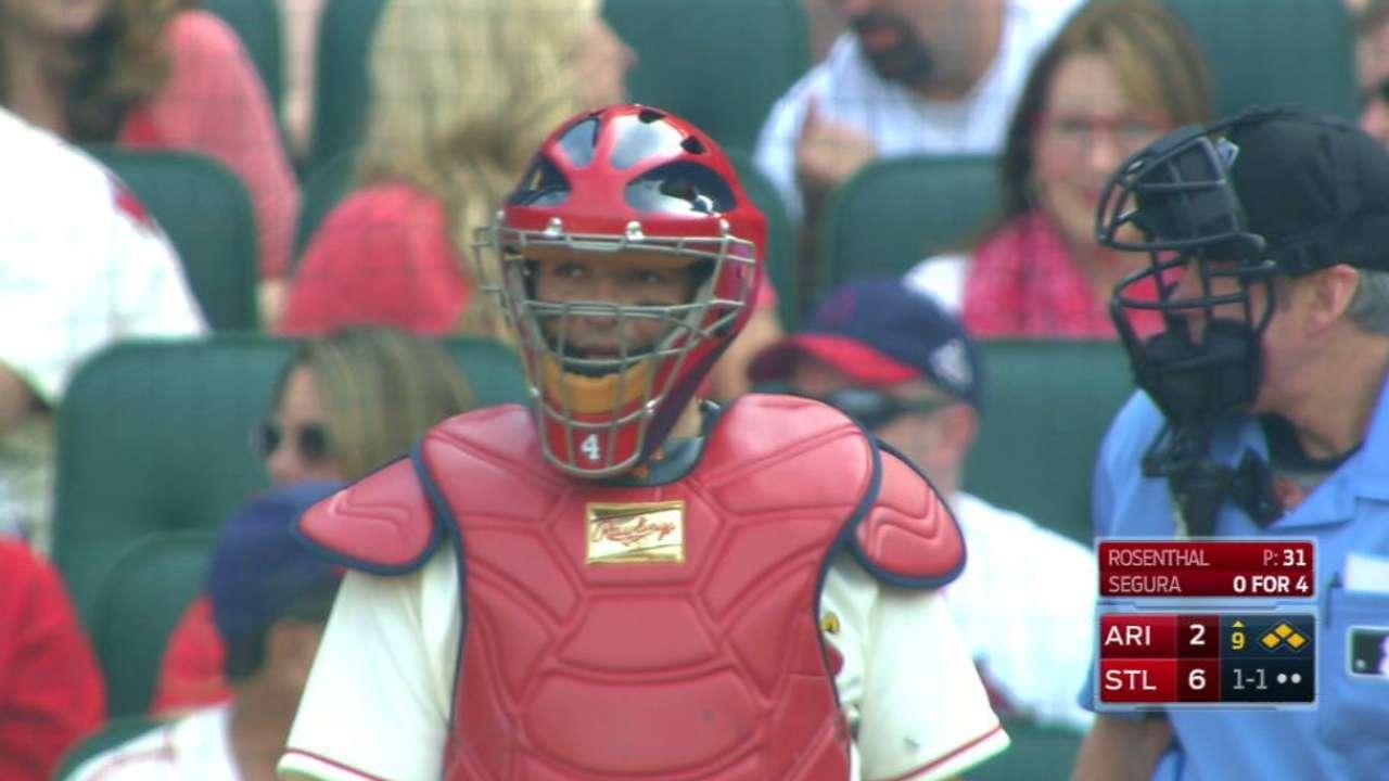 Video: Molina, Rosenthal invent wild pitch trick shot   MLB com