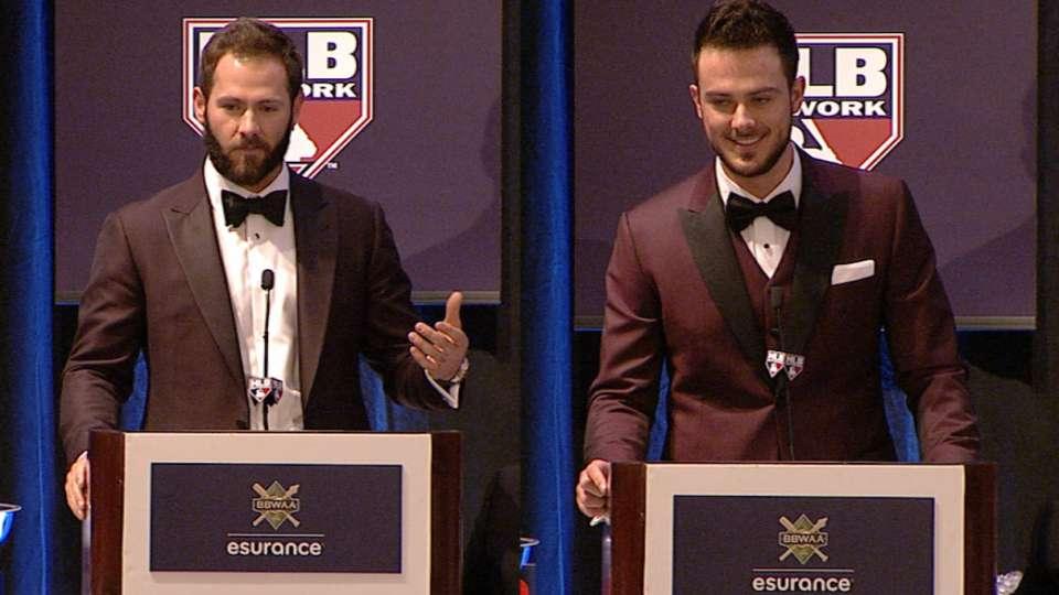 Arrieta, Bryant accept awards