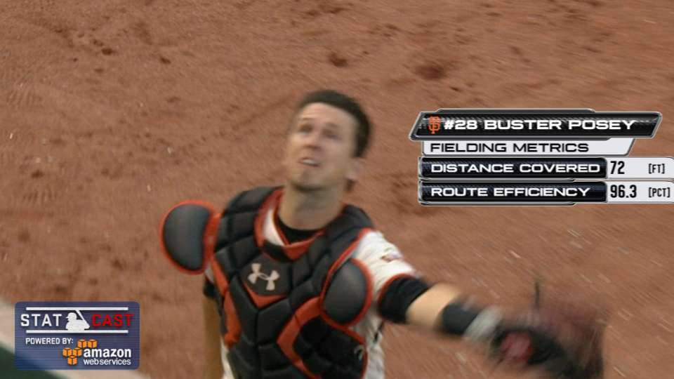 Statcast: Posey's running catch