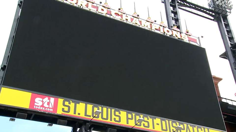 Cardinals upgrade scoreboard