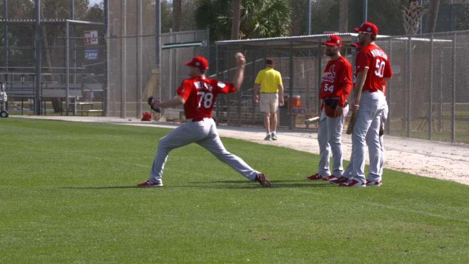 Trey Nielsen at Spring Training