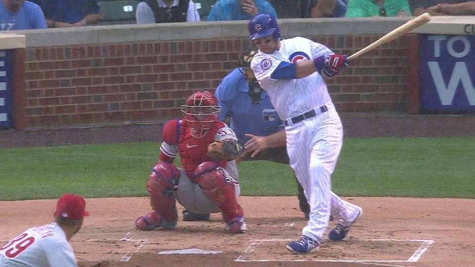 Zobrist extends hit streak to 13