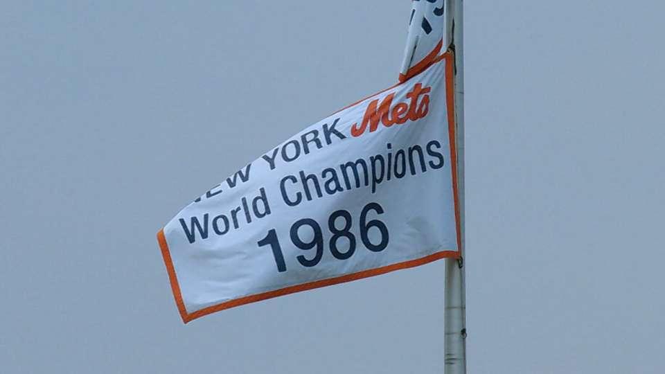 Mets honor '86 team pregame