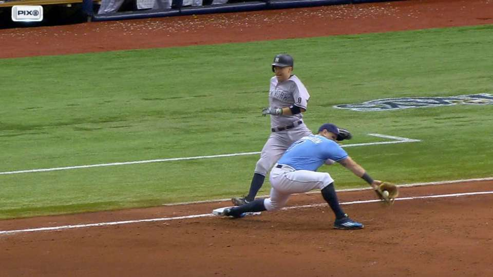 Ackley safe after call stands