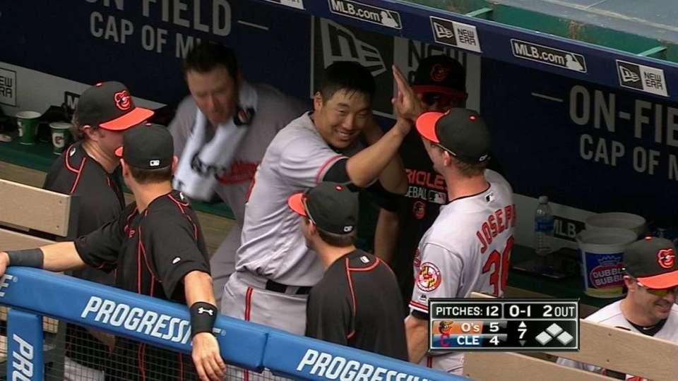 Kim's first career home run