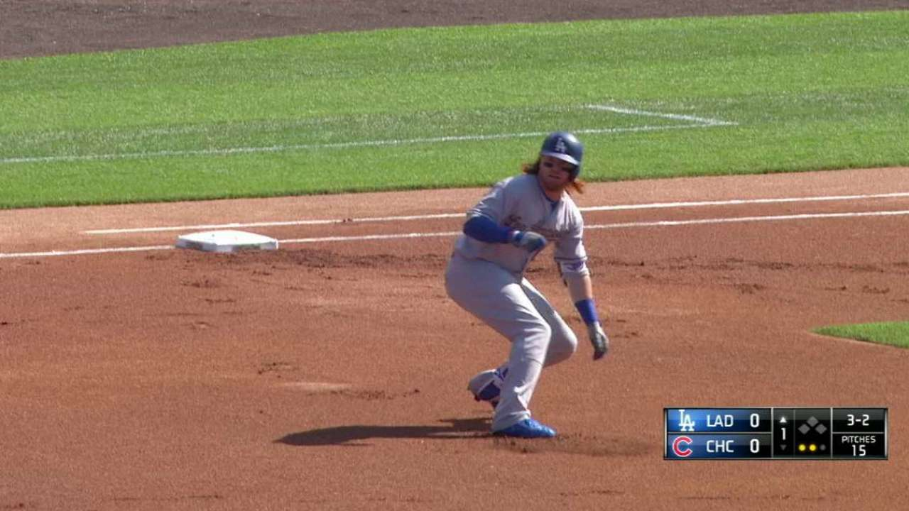 4bc1375299d Dodgers held to one hit during loss to Cubs