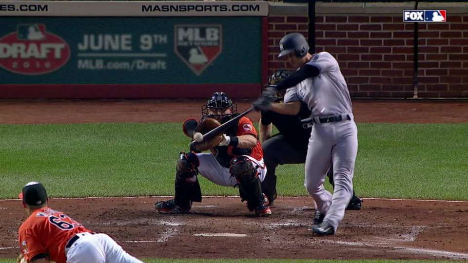 Refsnyder's two-out RBI double